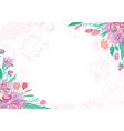 card with spring floral corners vector image
