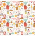 kitchen set icon seamless pattern vector image