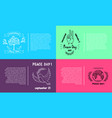 set of bright posters for international peace day vector image