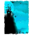 Halloween composition with horror house EPS 10 vector image