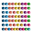 3D font design Box Alphabet and Number vector image