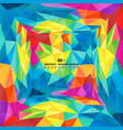 abstract colorful polygon presentation new vector image vector image