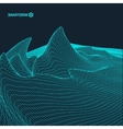 Abstract landscape background Cyberspace vector image vector image