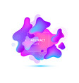 abstract liquid shape fluid color badge vector image