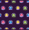 aliens wearing protective suits seamless pattern vector image