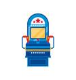 arcade game machine retro casino slot machine vector image vector image