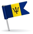 Barbados pin icon flag vector image vector image