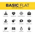basic set love icons vector image vector image