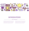BATHROOM-END Bath equipment colorful concept vector image vector image