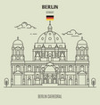 berlin cathedral vector image vector image