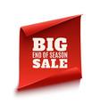 Big end of season sale poster vector image vector image