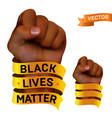 black lives matter movement against racism vector image