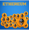 blockchain background with ethereum symbols vector image vector image