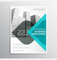 blue annual report business brochure with curve vector image
