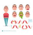 boy emoji face icons and symbols vector image vector image