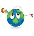 boy on earth planet vector image vector image