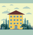 building in flat style vector image vector image