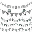 Bunting Owl with Banner vector image vector image