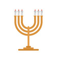 candlesticks icon flat style vector image