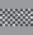 chequered silk flag vector image vector image