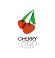 cherry logo design creative template can be used vector image vector image