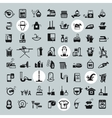 Cleaning Tools icons black cleaning icons set vector image