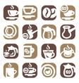 color coffee icin set vector image