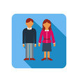 Couple on a blue background flat style vector image vector image