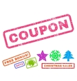 Coupon Rubber Stamp vector image vector image