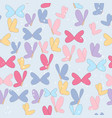 cute cartoon colorful pastel butterfly seamless vector image