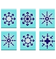 Dark blue stars vector image