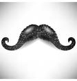 Dark Mosaic Mustache vector image vector image