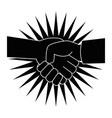diversity handshake symbol vector image vector image