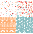 Doodle abstract patterns vector image vector image