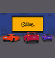 drive in cinema vector image vector image