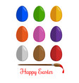 easter eggs icons set flat modern style vector image vector image