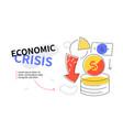 economic crisis - colorful flat design style web vector image