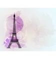 Eiffel tower background vector image vector image