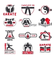Fight club bages set vector image vector image