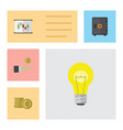 flat icon incoming set of diagram strongbox cash vector image vector image