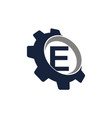 gear logo letter e vector image vector image
