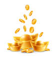 Gold Ingots vector image vector image