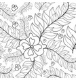 hand drawn ornament for adult anti stress vector image