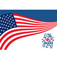 happy 4th july united states independence day vector image