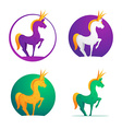 Horse crown character for logo vector image