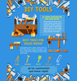 house repair tool and carpentry equipment poster vector image vector image