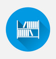 image books standing on shelf icon on blue vector image vector image