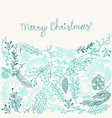 inscription merry christmas blue composition vector image vector image