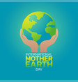 international mother earth day logo icon design vector image