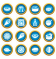 japan food icons set simple style vector image